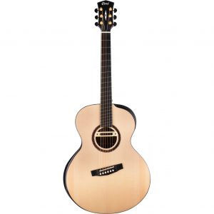 Cort Cut Craft Natural Gloss Limited Edition multiscale met L.R. Baggs M80 en koffer
