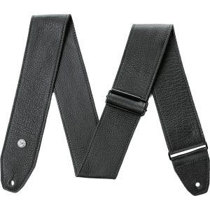 Dunlop BMF15BK Tri-Glide Leather Black gitaarband 6.3 cm