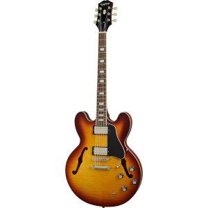 Epiphone ES-335 Figured Raspberry Tea Burst semi-akoestische gitaar