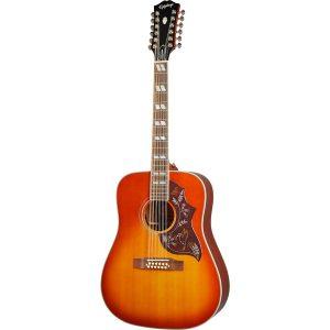 Epiphone Hummingbird 12 String Aged Cherry Sunburst Gloss elektrisch-akoestische westerngitaar