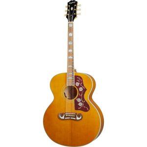 Epiphone Inspired by Gibson J-200 Aged Natural Antique Gloss elektrisch-akoestische westerngitaar