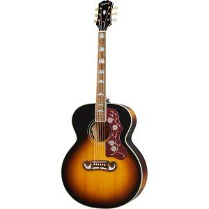 Epiphone Inspired by Gibson J-200 Aged Vintage Sunburst Gloss elektrisch-akoestische westerngitaar