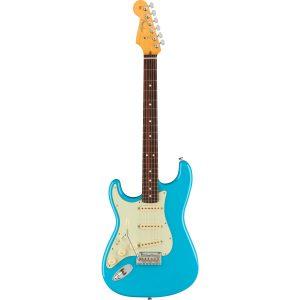 Fender American Professional II Stratocaster LH Miami Blue RW linkshandige elektrische gitaar met koffer