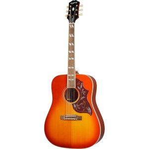 Epiphone Inspired by Gibson Hummingbird Aged Cherry Sunburst Gloss elektrisch-akoestische westerngitaar