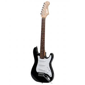 Fazley FST034BK 3/4-formaat elektrische gitaar zwart