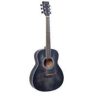 Fazley W55-COL-BK-3/4 ColourTune western gitaar zwart