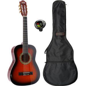 LaPaz 002 SB klassieke gitaar 1/2-formaat sunburst + gigbag + tuner