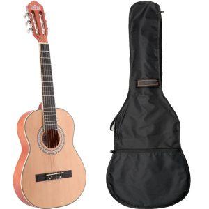 LaPaz C30N klassieke gitaar 1/2-formaat naturel + gigbag