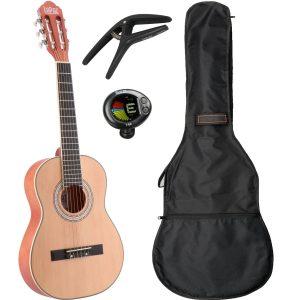 LaPaz C30N klassieke gitaar 1/2-formaat naturel + gigbag + accessoires