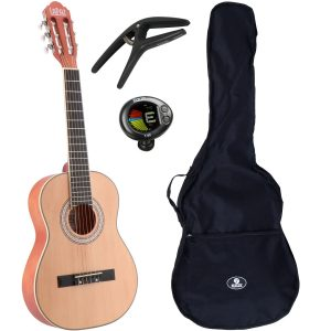 LaPaz C30N klassieke gitaar 3/4-formaat naturel + gigbag + accessoires