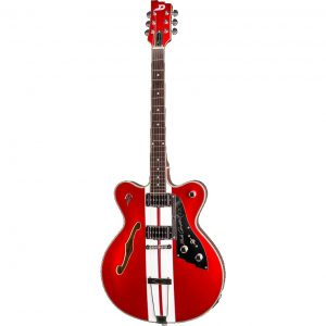 Duesenberg Alliance Mike Campbell II Red & White elektrische signature gitaar met koffer