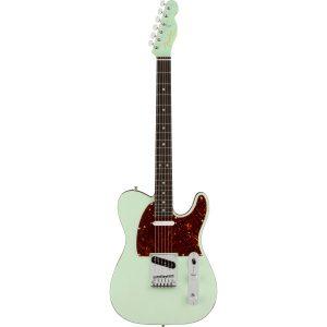 Fender American Ultra Luxe Telecaster Transparent Surf Green RW elektrische gitaar met koffer