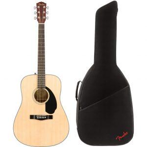 Fender CD-60S Natural akoestische westerngitaar + gigbag