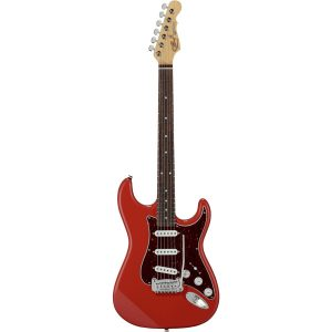 G&L Fullerton Deluxe Legacy Fullerton Red RW elektrische gitaar met deluxe gigbag