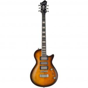 Hagstrom Ultra Max Special Gylden Burst Limited Edition elektrische gitaar